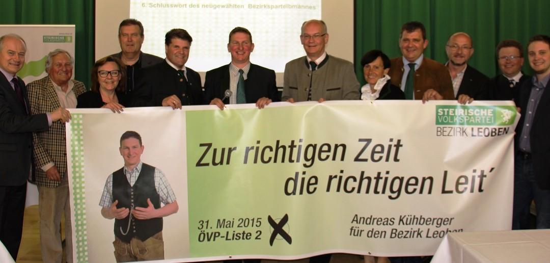 Bgm. Andreas Kühberger (41) ist neuer Bezirksparteiobmann von Leoben